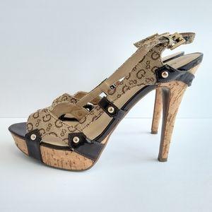 Guess Women's Size 10 Heels Mocha
